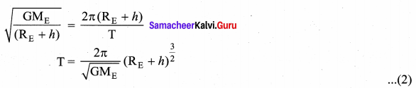 Samacheer Kalvi 11th Physics Solutions Chapter 6 Gravitation 94