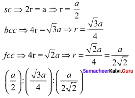 12th Chemistry Solid State Book Back Answers Samacheer Kalvi