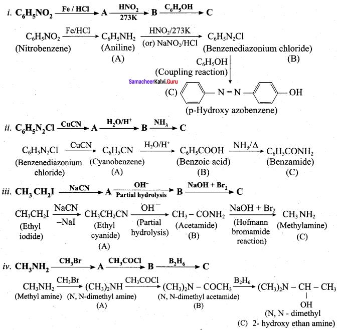 Samacheer Kalvi 12th Chemistry Solutions Chapter 13 Organic Nitrogen Compounds-45