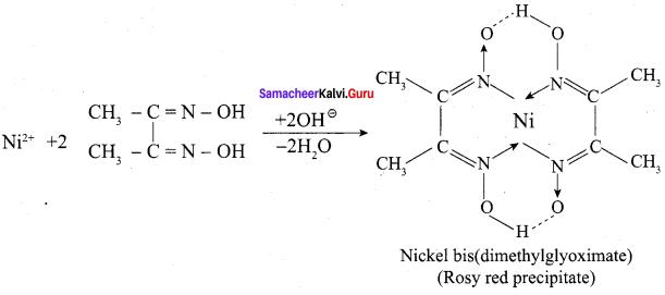 Samacheer Kalvi 12th Chemistry Solutions Chapter 5 Coordination Chemistry-1
