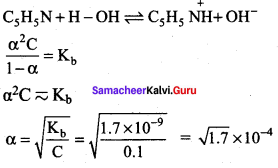 Ionic Equilibrium 12th Samacheer Kalvi
