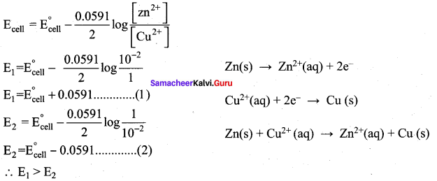 Samacheer Kalvi 12th Chemistry Solutions Chapter 9 Electro Chemistry-7