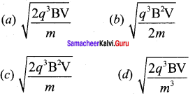Important Question Of Magnetic Effect Of Current Class 12 Samacheer Kalvi Chapter 3