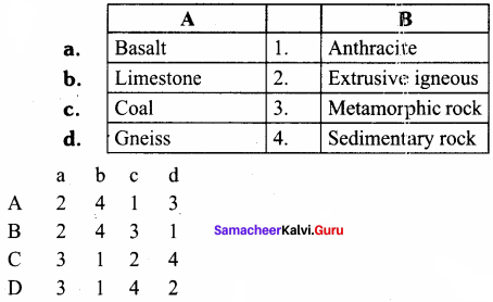 Samacheer Kalvi 8th Social Science Geography Term 1 Solutions Chapter 1 Rock and Soil 2