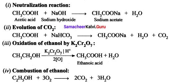 Science Class 10 Carbon And Its Compounds Samacheer Kalvi
