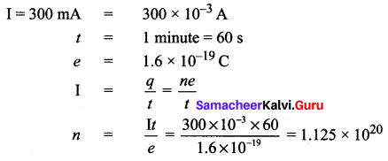 Samacheer Kalvi 10th Science Solutions Chapter 4 Electricity 16