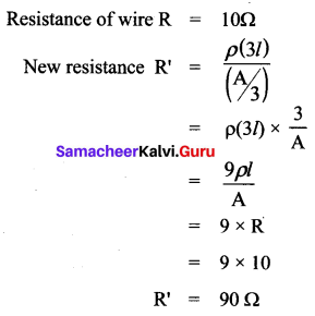 10th Science Electricity Lesson Book Back Answers Samacheer Kalvi