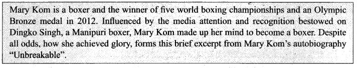 Samacheer Kalvi 11th English Solutions Prose Chapter 2 The Queen of Boxing 10