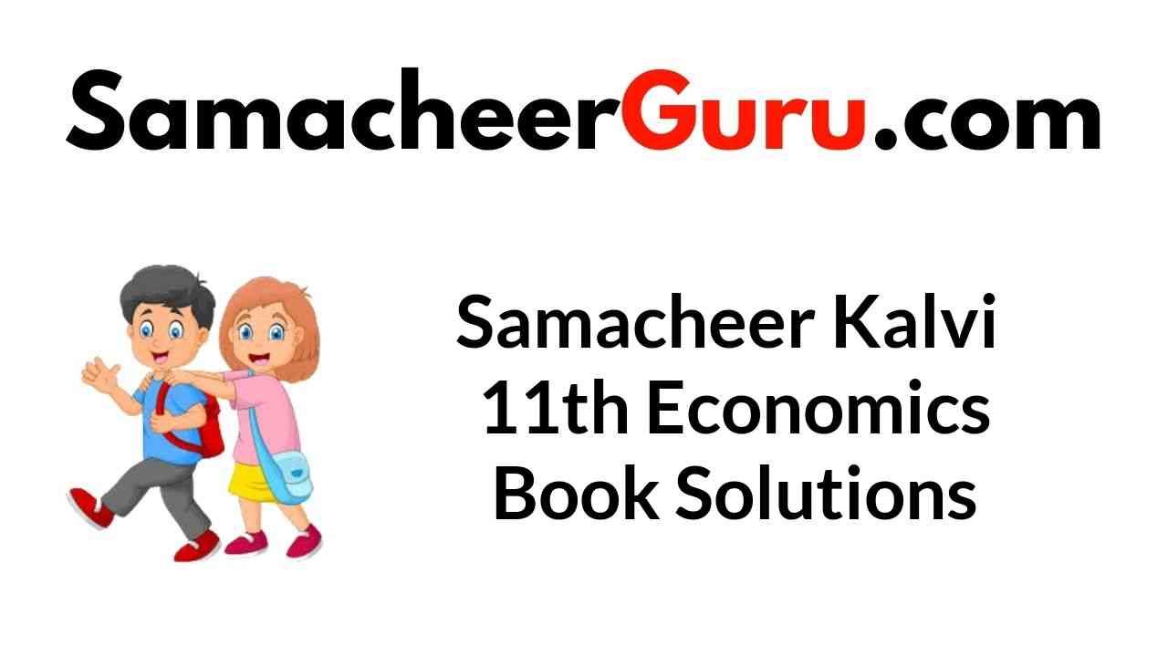 Samacheer Kalvi 11th Economics Book Solutions Answers Guide
