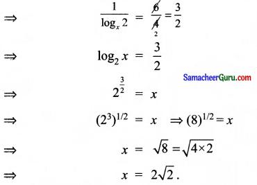 Samacheer Kalvi 11th Maths Solutions Chapter 2 அடிப்படை இயற்கணிதம் Ex 2.12 10