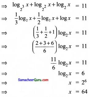 Samacheer Kalvi 11th Maths Solutions Chapter 2 அடிப்படை இயற்கணிதம் Ex 2.12 2