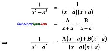 Samacheer Kalvi 11th Maths Solutions Chapter 2 அடிப்படை இயற்கணிதம் Ex 2.9 1
