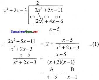 Samacheer Kalvi 11th Maths Solutions Chapter 2 அடிப்படை இயற்கணிதம் Ex 2.9 15