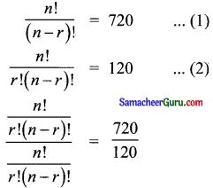 Samacheer Kalvi 11th Maths Solutions Chapter 4 சேர்ப்பியல் மற்றும் கணிதத் தொகுத்தறிதல் Ex 4.3 1