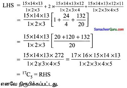 Samacheer Kalvi 11th Maths Solutions Chapter 4 சேர்ப்பியல் மற்றும் கணிதத் தொகுத்தறிதல் Ex 4.3 4