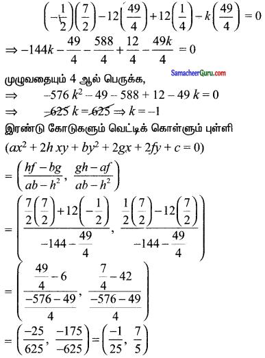 Samacheer Kalvi 11th Maths Solutions Chapter 6 இருபரிமாண பகுமுறை வடிவியல் Ex 6.4 19