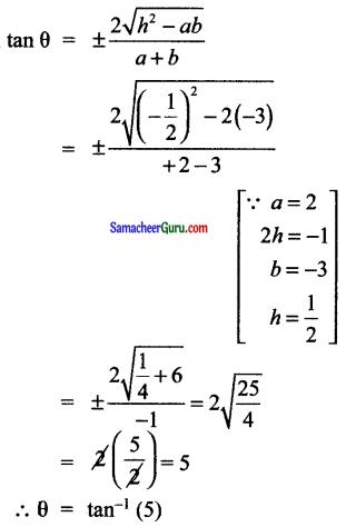 Samacheer Kalvi 11th Maths Solutions Chapter 6 இருபரிமாண பகுமுறை வடிவியல் Ex 6.4 6