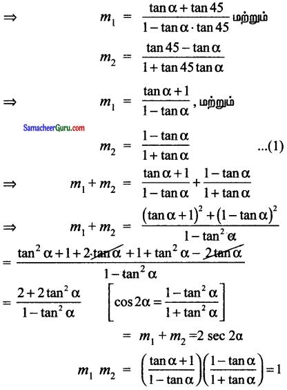Samacheer Kalvi 11th Maths Solutions Chapter 6 இருபரிமாண பகுமுறை வடிவியல் Ex 6.4 9