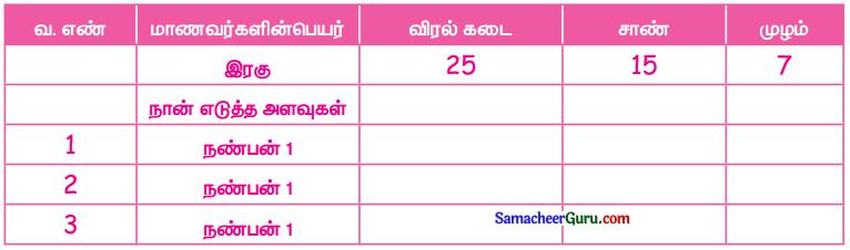 Samacheer Kalvi 3rd Maths Guide Term 1 Chapter 4 அளவீடுகள் 1