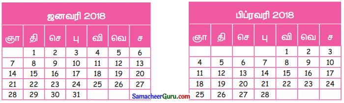 Samacheer Kalvi 3rd Maths Guide Term 1 Chapter 5 காலம் 17