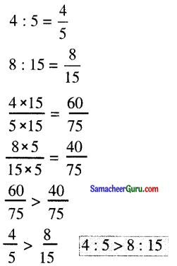 Samacheer Kalvi 6th Maths Guide Term 1 Chapter 3 விகிதம் மற்றும் விகித சமம் Ex 3.2 3