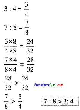 Samacheer Kalvi 6th Maths Guide Term 1 Chapter 3 விகிதம் மற்றும் விகித சமம் Ex 3.2 4