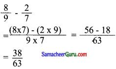 Samacheer Kalvi 6th Maths Guide Term 3 Chapter 1 பின்னங்கள் Ex 1.1 5