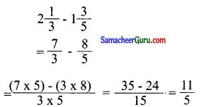 Samacheer Kalvi 6th Maths Guide Term 3 Chapter 1 பின்னங்கள் Ex 1.1 6