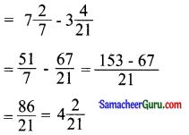 Samacheer Kalvi 6th Maths Guide Term 3 Chapter 1 பின்னங்கள் Ex 1.1 7