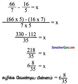 Samacheer Kalvi 6th Maths Guide Term 3 Chapter 1 பின்னங்கள் Ex 1.2 10