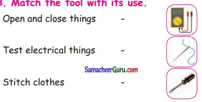 Samacheer Kalvi 3rd English Guide Term 3 Chapter 2 Tools We Use 20