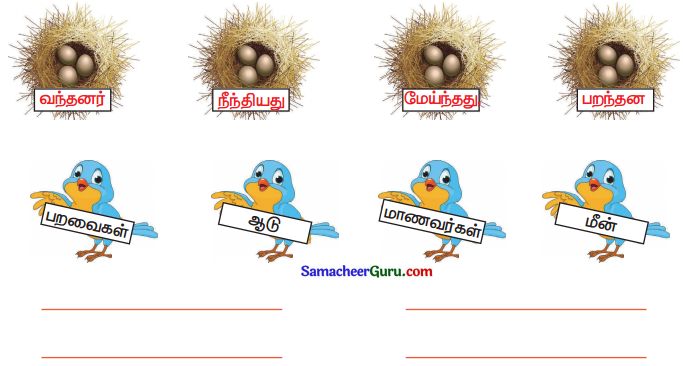 Samacheer Kalvi 3rd tamil Guide Term 3 Chapter 2 தாக்கணாங்குருவியம் ஒட்டகச்சிவிங்கியும் 1